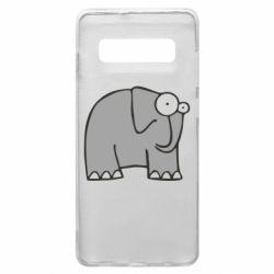 Чехол для Samsung S10+ удивленный слон