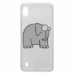 Чехол для Samsung A10 удивленный слон