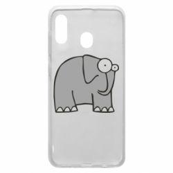 Чехол для Samsung A20 удивленный слон