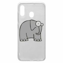 Чехол для Samsung A30 удивленный слон