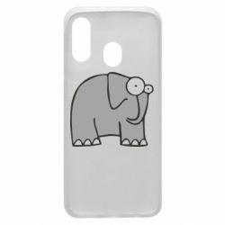 Чехол для Samsung A40 удивленный слон