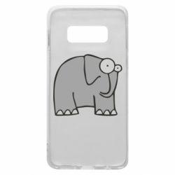 Чехол для Samsung S10e удивленный слон