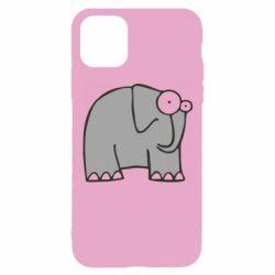 Чехол для iPhone 11 Pro удивленный слон