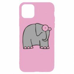 Чехол для iPhone 11 Pro Max удивленный слон