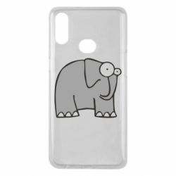 Чехол для Samsung A10s удивленный слон