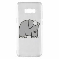 Чехол для Samsung S8+ удивленный слон - FatLine