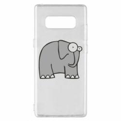 Чехол для Samsung Note 8 удивленный слон - FatLine