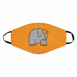 Маска для лица удивленный слон
