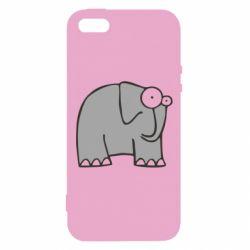 Чехол для iPhone5/5S/SE удивленный слон - FatLine