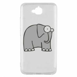 Чехол для Huawei Y6 Pro удивленный слон - FatLine