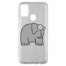 Чехол для Samsung M30s удивленный слон