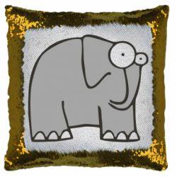 Подушка-хамелеон удивленный слон