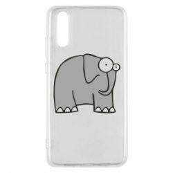 Чехол для Huawei P20 удивленный слон - FatLine