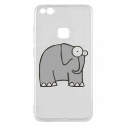 Чехол для Huawei P10 Lite удивленный слон - FatLine