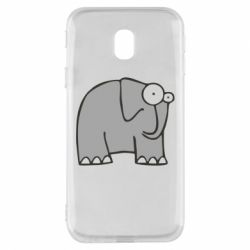 Чехол для Samsung J3 2017 удивленный слон - FatLine