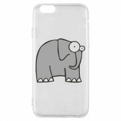 Чехол для iPhone 6/6S удивленный слон - FatLine