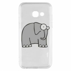 Чехол для Samsung A3 2017 удивленный слон - FatLine