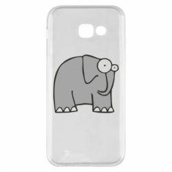 Чехол для Samsung A5 2017 удивленный слон - FatLine