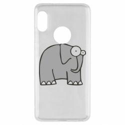 Чехол для Xiaomi Redmi Note 5 удивленный слон - FatLine