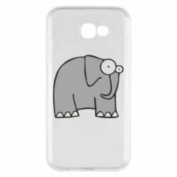 Чехол для Samsung A7 2017 удивленный слон - FatLine