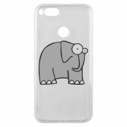 Чехол для Xiaomi Mi A1 удивленный слон - FatLine