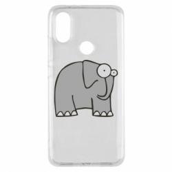 Чехол для Xiaomi Mi A2 удивленный слон - FatLine