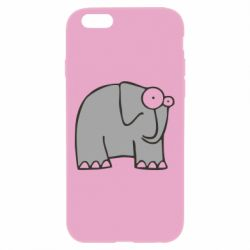 Чехол для iPhone 6 Plus/6S Plus удивленный слон - FatLine