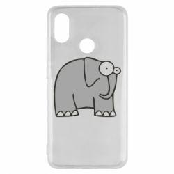 Чехол для Xiaomi Mi8 удивленный слон - FatLine