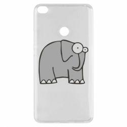 Чехол для Xiaomi Mi Max 2 удивленный слон - FatLine
