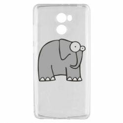 Чехол для Xiaomi Redmi 4 удивленный слон - FatLine