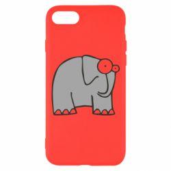 Чехол для iPhone 7 удивленный слон - FatLine