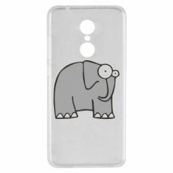 Чехол для Xiaomi Redmi 5 удивленный слон - FatLine