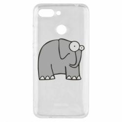 Чехол для Xiaomi Redmi 6 удивленный слон - FatLine