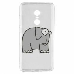 Чехол для Xiaomi Redmi Note 4 удивленный слон - FatLine