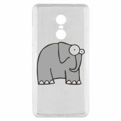 Чехол для Xiaomi Redmi Note 4x удивленный слон - FatLine
