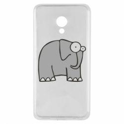 Чехол для Meizu M5 удивленный слон - FatLine