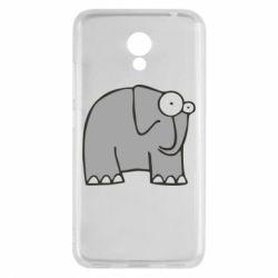 Чехол для Meizu M5c удивленный слон - FatLine