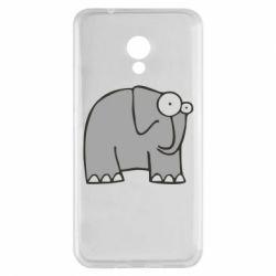 Чехол для Meizu M5s удивленный слон - FatLine