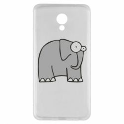 Чехол для Meizu M5 Note удивленный слон - FatLine