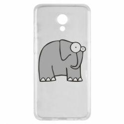 Чехол для Meizu M6s удивленный слон - FatLine