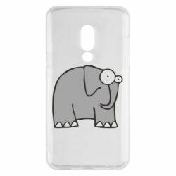 Чехол для Meizu 15 удивленный слон - FatLine