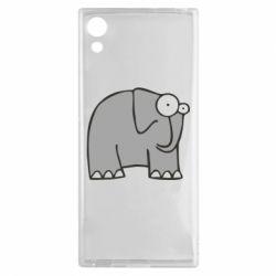 Чехол для Sony Xperia XA1 удивленный слон - FatLine