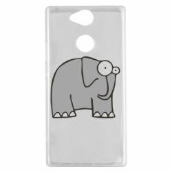 Чехол для Sony Xperia XA2 удивленный слон - FatLine