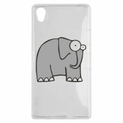Чехол для Sony Xperia Z1 удивленный слон - FatLine