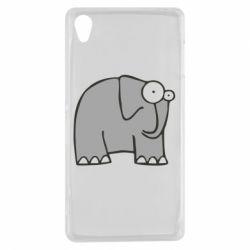 Чехол для Sony Xperia Z3 удивленный слон - FatLine