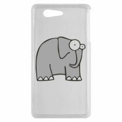 Чехол для Sony Xperia Z3 mini удивленный слон - FatLine