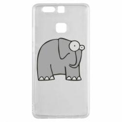 Чехол для Huawei P9 удивленный слон - FatLine