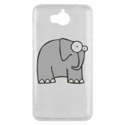 Чехол для Huawei Y5 2017 удивленный слон - FatLine