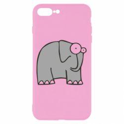 Чехол для iPhone 8 Plus удивленный слон - FatLine