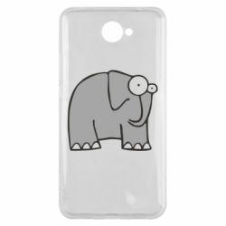 Чехол для Huawei Y7 2017 удивленный слон - FatLine